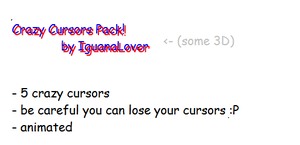 Crazy cursors pack by IguanaLover