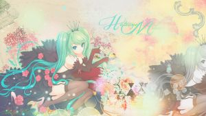 Hatsune Miku Wallpaper by Bila-sama