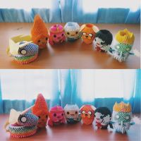 Adventure Time 3D Origami by deerexx