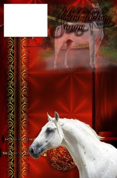 Red christmas horse design by 3Epica3