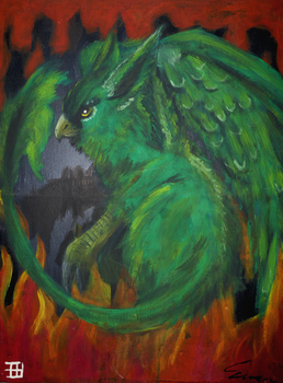 Gryphon 2005 painting by griffsnuff