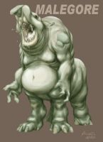 Malegore monster design by MichaelMayne