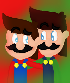 The brothers, Mario and Luigi by AufaAsSelnia