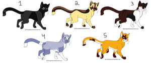 Adoptable cats 2 //5 points each// by Rose-Sherlock