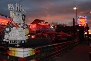 Christmas at Cruiser's Route 66 Cafe by OrioNebula