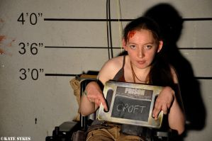 Lara Croft Mugshot - EGX 2015 by KateRSykes