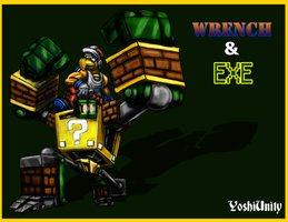 Wrench and EXE - New Friend Characters by yoshiunity
