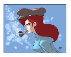 The Girl who blew Bubbles by jdcunard