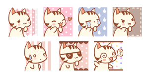 Kitty Icon Set by LVStarlitSky
