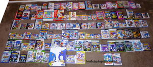 My Huge Sonic Game Collection by bluehedgehogX