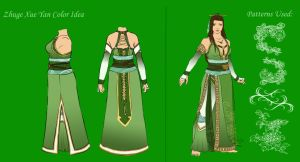 CE: Zhuge Xue Yan Outfit Colors by pumpkincookie