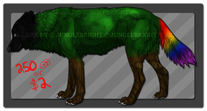 Forest Spirit / wolf adoptable ( OPEN ) by gothams--reckoning