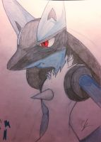 Lucario by killjoy1101