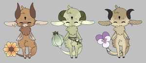 Kebloom ~ Set 3 (Closed) by LunarAdopts