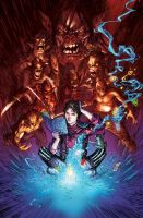 Rise of the Magi Cover (Unused) Blue/orange by Jasen-Smith