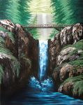 Multnomah Falls larger version by Kchan27