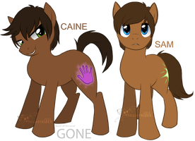 Sam and Caine mlp style by Nightrizer
