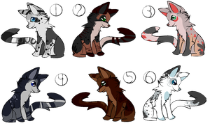more cat adopts: OPEN by RedAut-Adopts
