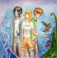 Iron Fey Trio + Cat by imaginary-ang3l