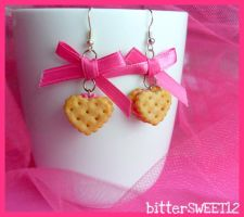 Strawberry Cookie Earrings 2 by bitterSWEETones