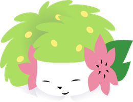 Sleeping Shaymin by XxLina-ChanxX