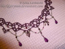 Plum necklace by la-chatte-noire