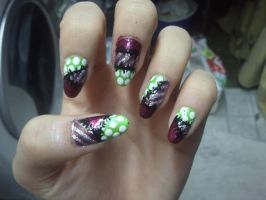 Halloween: Rag Doll Nails. by KashaKiller