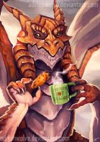 Dragon Breakfast. Commission for Dragonstrace by AdrianWolve