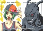 commission. mini a-kon sketch cards by maioceaneyes