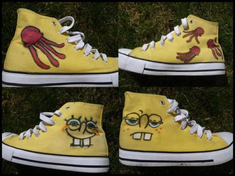 My Spongebob Chucks by Ibilicious