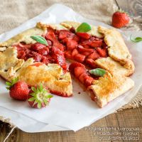 Rustic strawberry tart by Pokakulka