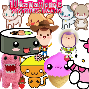 10 kawaii pngs by MyFamous