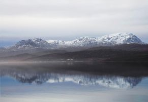 Mist Below Ben Hope by tartanink