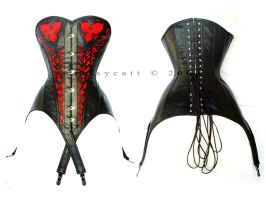 tooled leather corset by crissycatt