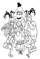 Gravity Falls by CrimeRoyale