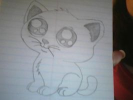 My Kitty Drawing by Angelicsweetheart