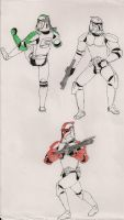Clone Trooper poses by Tribble-Industries