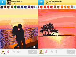Draw Something!!! (Sunset edition) (Day 151) by Hedwigs-art