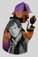Benedict Cumberbatch as Sherlock by LornaKelleherArt