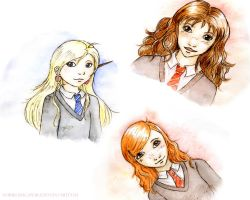 Harry Potter doodles by Noriko-Sugawara