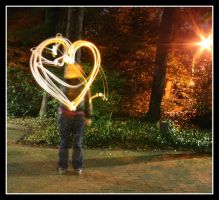 light painting heart by quasiohnemodo