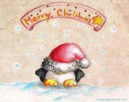 Christmas Penguin 2012 by B-Keks
