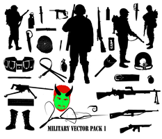 Military Vector Pack 1 by MaxDaMonkey