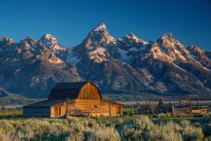 Grand Teton Barn by porbital