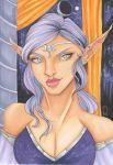 Moon Elf by CosmicIllustration