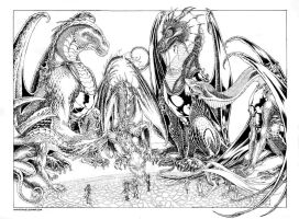 Temeraire Dragons - Ink by DanielGovar