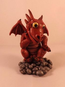 Baby Smaug One day I will sit on Gold... by dragonbaba