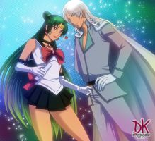 Sailor pluto and Kunzite COM copia by DKSTUDIOS05