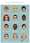Hannibal s3 faces by Ciorane