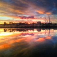 Siberian sunset by Slovno